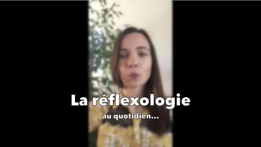 Angélique HUET  réflexologue au collectif Cultivons les Cailloux, à Ancenis partage quelques techniques de stimulation de points