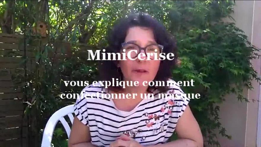 MimiCerise vous explique comment confectionner un masque